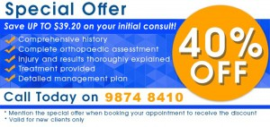 sports physio special offer west ryde