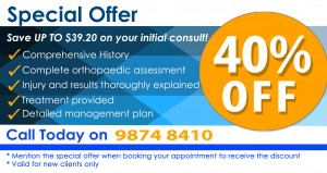 special offer for physio in west ryde